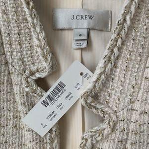 J. Crew: Metallic Tweed Jacket with Front Pockets
